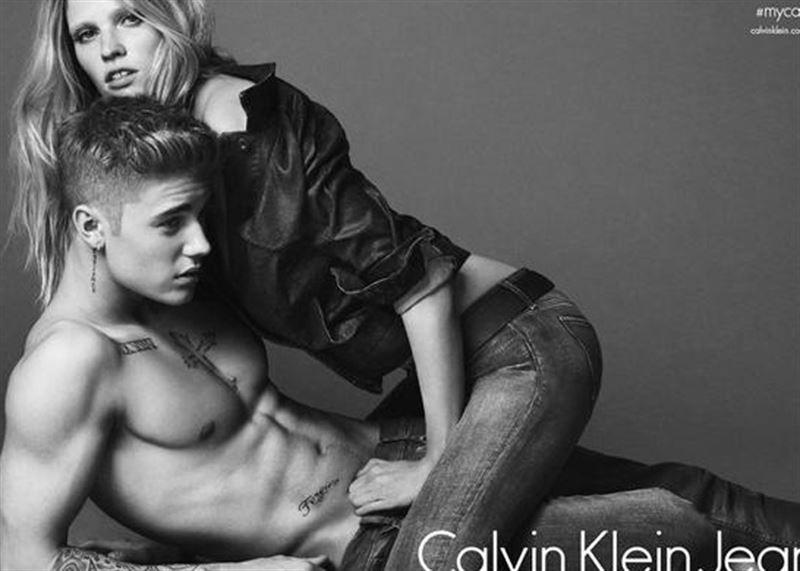 lara i Justin CK jeans
